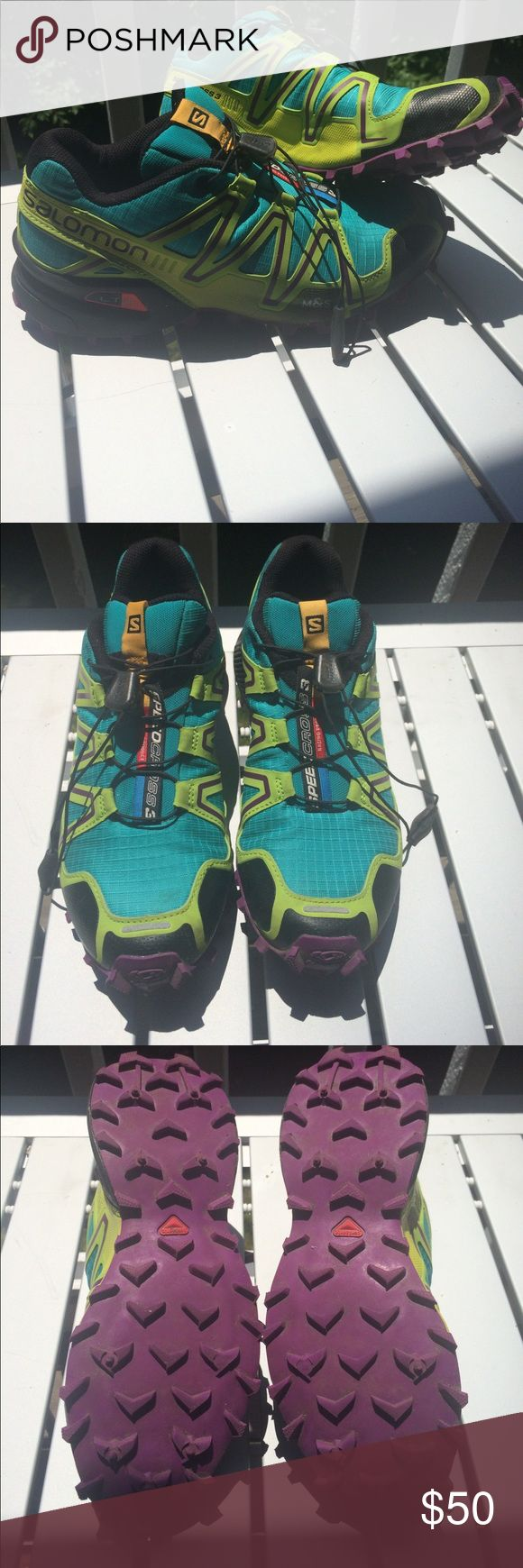 Salomon SpeedCross 3 Trail Running Shoe Size 7 I've worn these maybe four times, just a bit too small for me (I usually wear a 7.5 running shoe but couldn't get away with a 7). Extremely good condition, a bit of dirt here and there but the tread is in great shape. Perfect for trail running, or for those who don't like to hike in bulky boots. Offers considered!! Salomon Shoes Athletic Shoes