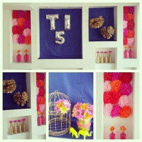 Pompones y flores