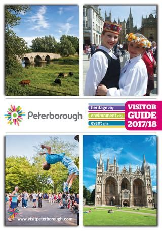 Peterborough Visitor Guide 2017-18 Peterborough Visitor Guide is a taste of what Peterborough has to offer and your handbook to where and when to enjoy the passion we have for our heritage, environment and event city.