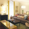 Eclectic: House Tours, Grey Couch, Mid Century Modern, Living Rooms, Behind Couch, Apartment Therapy, Creatures Comforter, Small Living, Small Spaces