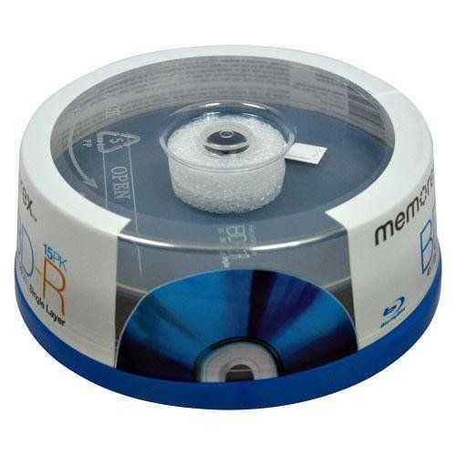 MEMOREX BLU RAY 25GB 4X Disc 15-PK SPINDLE by Memorex. $18.99. Memorex Blu-ray Disc Optical Media uses state-of-the-art blue-violet laser technology to support high-definition television recording with excellent HD broadcast quality. Featuring storage capacities up to five times larger than today's standard DVDs and fast data transfer rates, Blu-ray Disc is ideal for consumers interested in recording TV shows and sporting events in crystal-clear, high-definition quality. Blu-r...