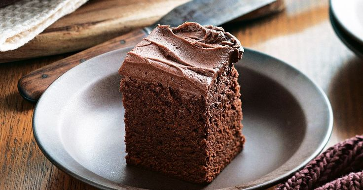 Moist and rich, this chocolate brownie slab cake is the perfect celebration food. Best of all it can be made well ahead of time.