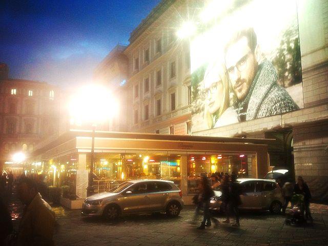 #Florence Piazza della Repubblica with modernity intertwined