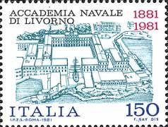 1981 - Centenario della fondazione dell'accademia navale di Livorno