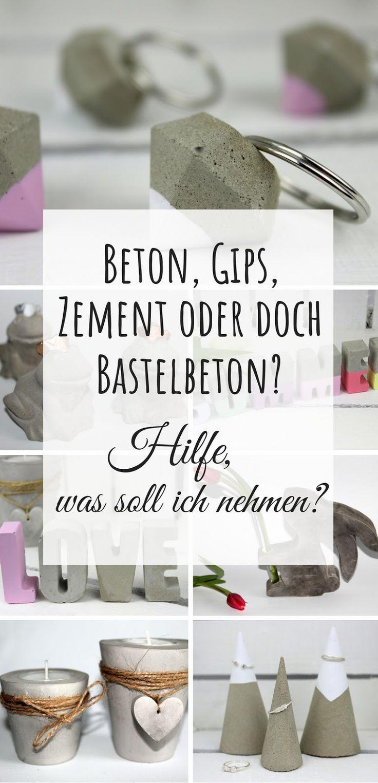 Beton, Gips, Zement oder Bastelbeton? Hilfe, was soll ich zum Basteln verwenden? (+Vor- und Nachteile) – Lady Bella DIY, Upcycling & Deko