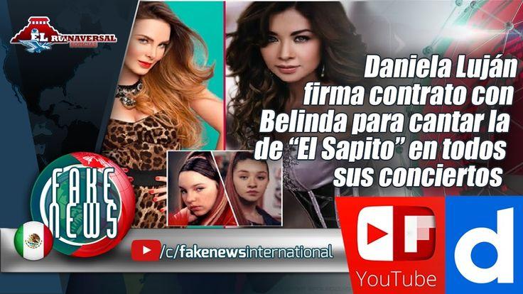 """Daniela Luján firma contrato con Belinda para cantar la de """"El Sapito"""""""