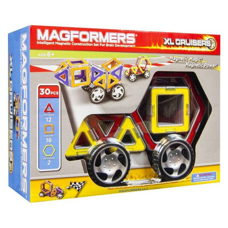 Magformers XL Cruisers 30 Piece Car Set - 63073