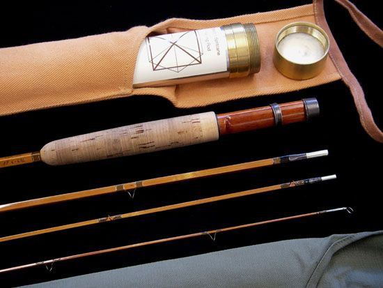trout rods brandin split cane rods 763 3 df hb bamboo fly - Fly Bambou