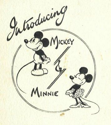 vintage minnie and mickey