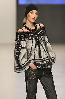 Blouse with elements of West Ukrainian embroidery