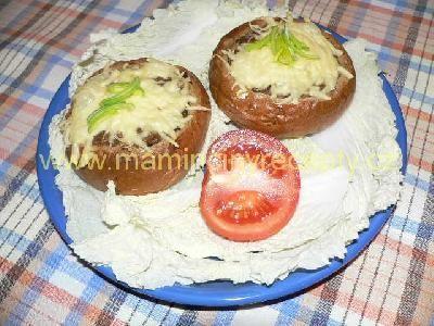 Zapékané bulky s mletým masem a sýrem