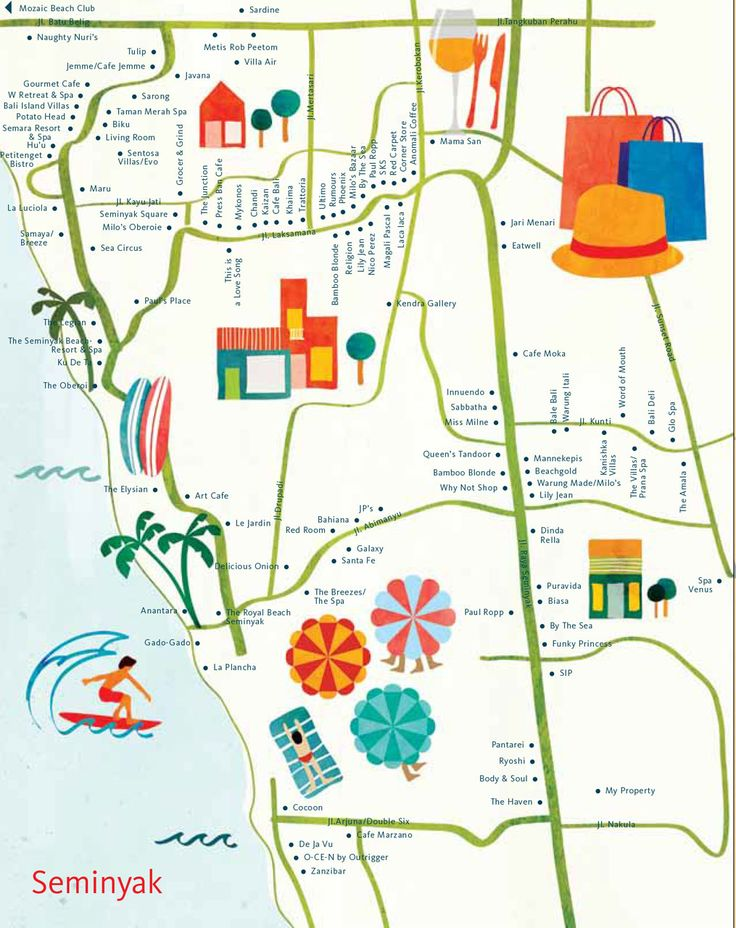 Astrid Prasetainati - Map of Seminyak, Bali for hellobali magazine