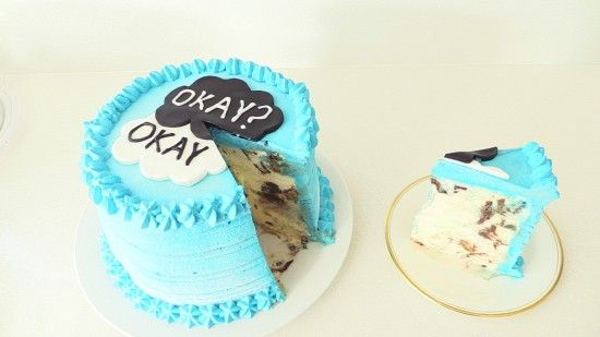 The Fault In Our Stars Cake, TFIOS ice cream cake is easy to make for any John Green fan