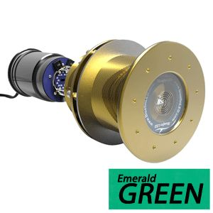 Bluefin LED Great White GW16 Thru-Hull Underwater LED Light - 5600 Lumens - Emerald Green