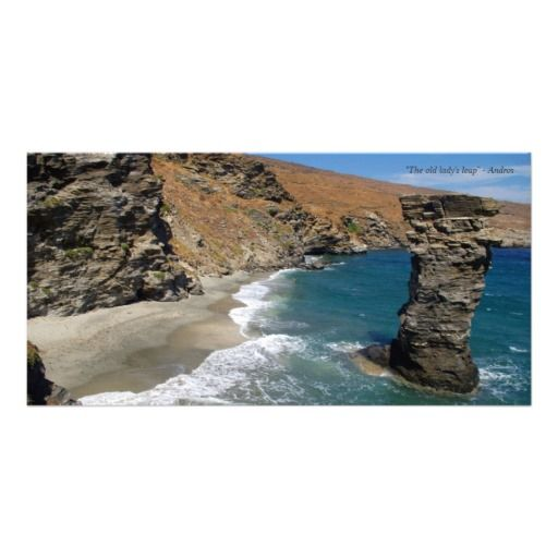"""""""The old lady's leap"""" - Andros Personalized Photo Card"""