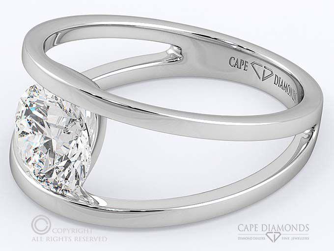 79 Split Band Diamond Engagement Ring Cape Town Cape Diamonds In 2020 Engagement Rings Diamond Engagement Rings