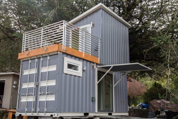 Two-Story Shipping Container Tiny House For Sale Great Tiny House because you can secure it while not there