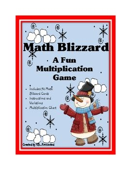 Multiplication Math Blizzard is a fun card game that will help your students practice their multiplication skills 0-12. Based on the game