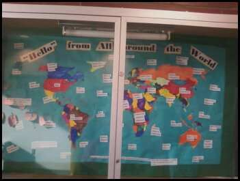 """'""""Hello"""" From All Around the World' bulletin board. Hello in many different languages from all around the world plus some language facts scattered in there. :)"""