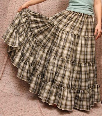 Simple long tiered skirt... love it!