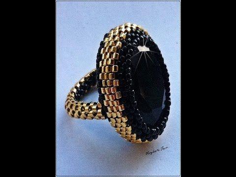 Tutorial: DIY come creare una base per anelli rigida a peyote utilizzando delica11 e rocailles 15