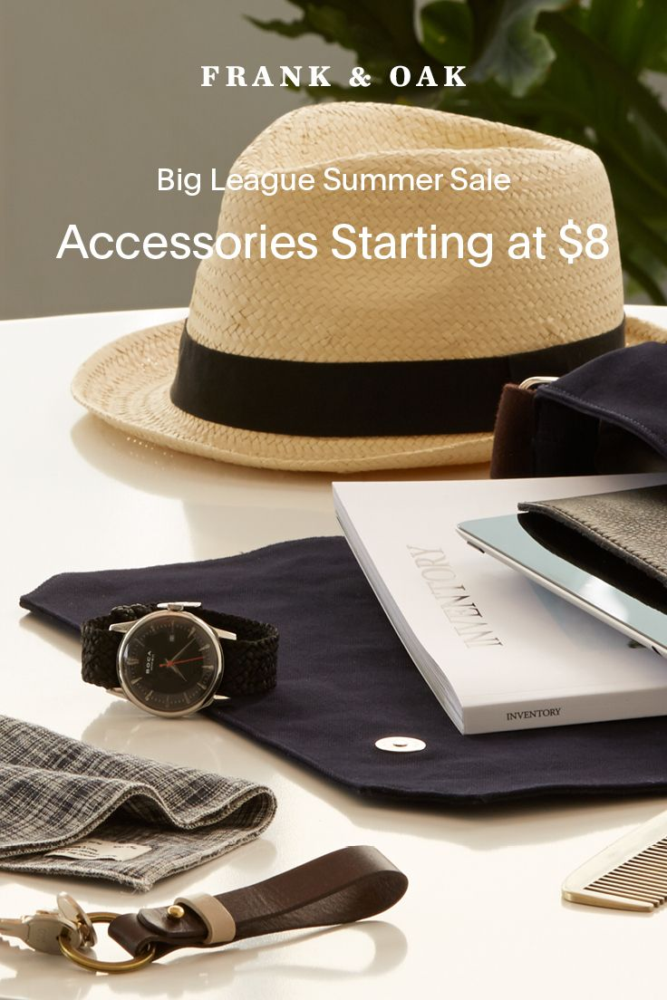 The summer accessories you need. Finish off your look with a few of these.