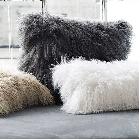i love my furry pillows!