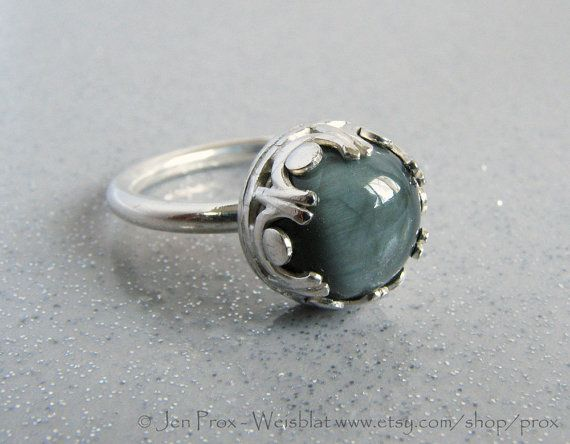 Reserved for Carol  Grey cats eye ring  Gray cats eye ring by prox