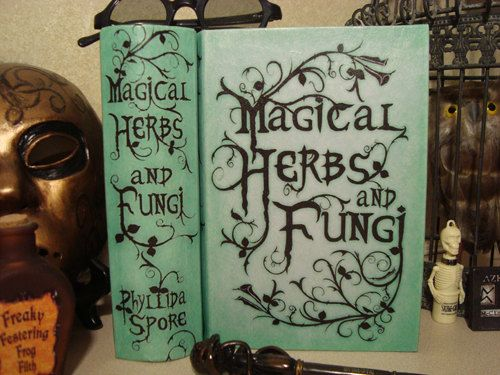 Harry Potter Textbooks!!!  Magical Herbs and Fungi book by GeekCameosEtc on Etsy, $20.00
