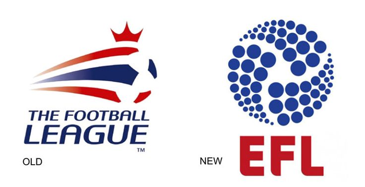 In fact, 72 of them. It seems the venerable Football League, which was founded 127 years ago, is composed of three divisions, each containing 24 clubs. Now the powers that be have decided to rename it to The English Football League (thereby annoying fans of the two Welsh clubs), with the new name and #logo to come into use ahead of the 2016/17 season.
