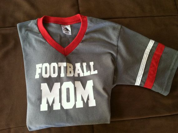 Hey, I found this really awesome Etsy listing at https://www.etsy.com/listing/162175751/custom-football-mom-jersey-t-shirt