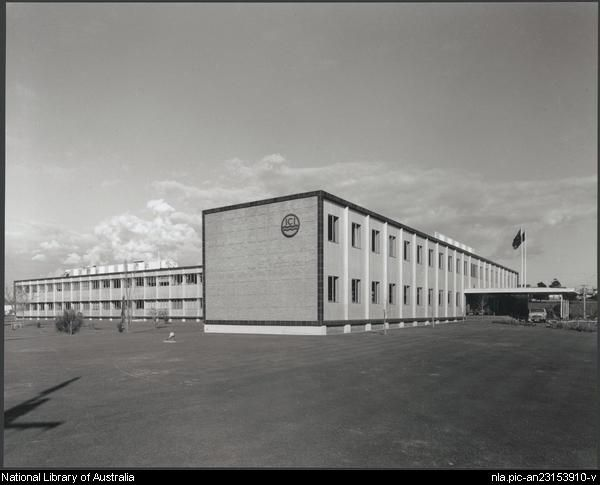 Sievers, Wolfgang, 1913-2007. I.C.I. (now Orica) Research Laboratories, Ascot Vale, Victoria (5) [picture]