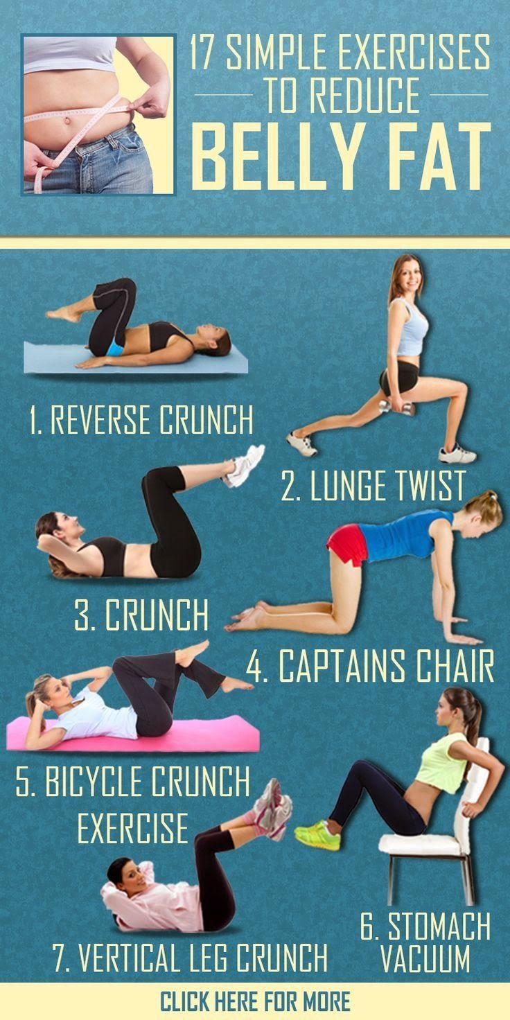 17 Simple Exercises To Reduce Belly Fat | Cute Health