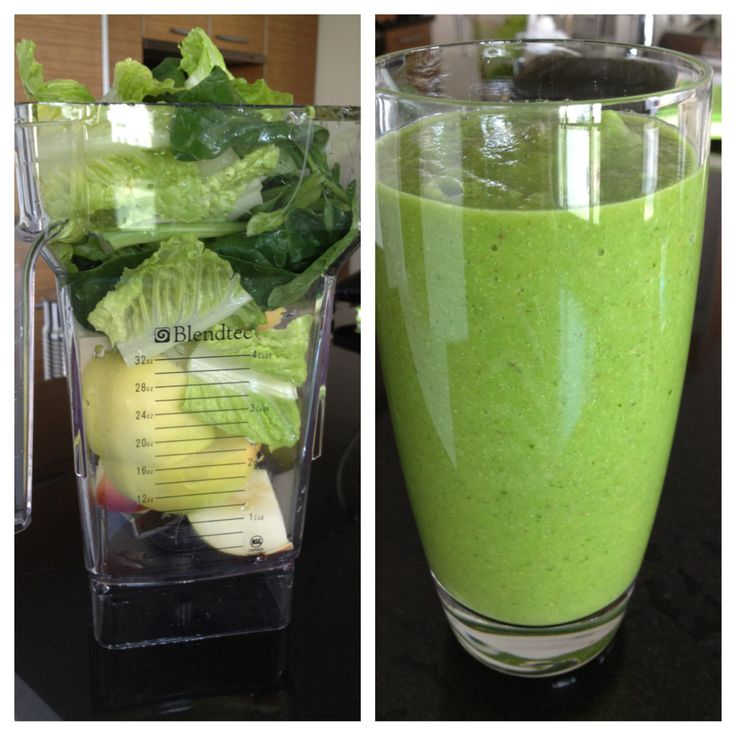 Today's power breakfast: 1 apple 1 pear 1 banana Romain Lettuce Spinach 2 SP flax seeds 1 glass iced cold water Put all ingredients in a Blender. Blend it very well. Ready! I love to have this kind smoothie for breakfast, because it gives me energy and keeps me full for a long time ( fiber from fruits and greens). I dare you to reach out for a cup of coffee after this smoothie! Greens give you energy without crashing you later , such as coffee does. Have a great and green day!