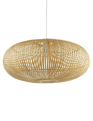 High Quality Oval Handcrafted Bamboo Pendant Lamp From Marks U0026 Spencer