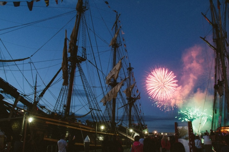 Tall Ships Festival 2012 in #Halifax - awesome fireworks every night