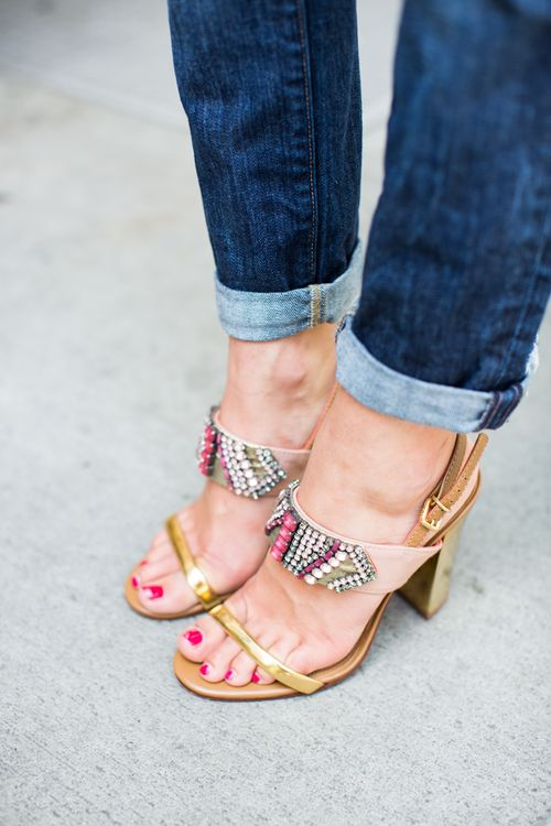 Beaded Sandals: coordinate well with just about any outfit, casual or evening wear.