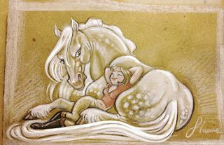 sketch con cavallo