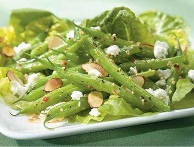 Zelené fazolky s mandlemi