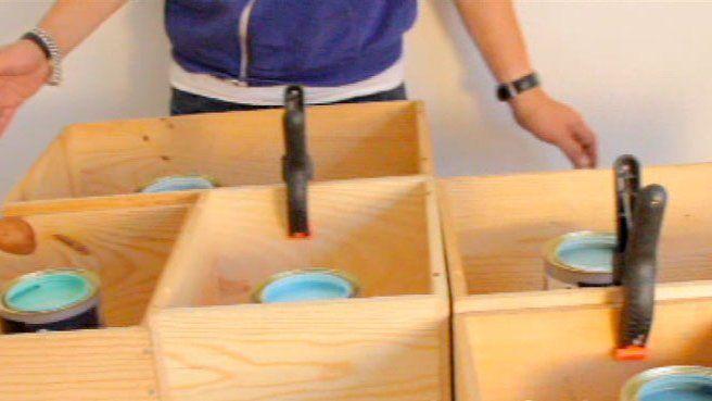 Les 79 meilleures images propos de caisses de vin sur pinterest cageots - Construire une etagere ...