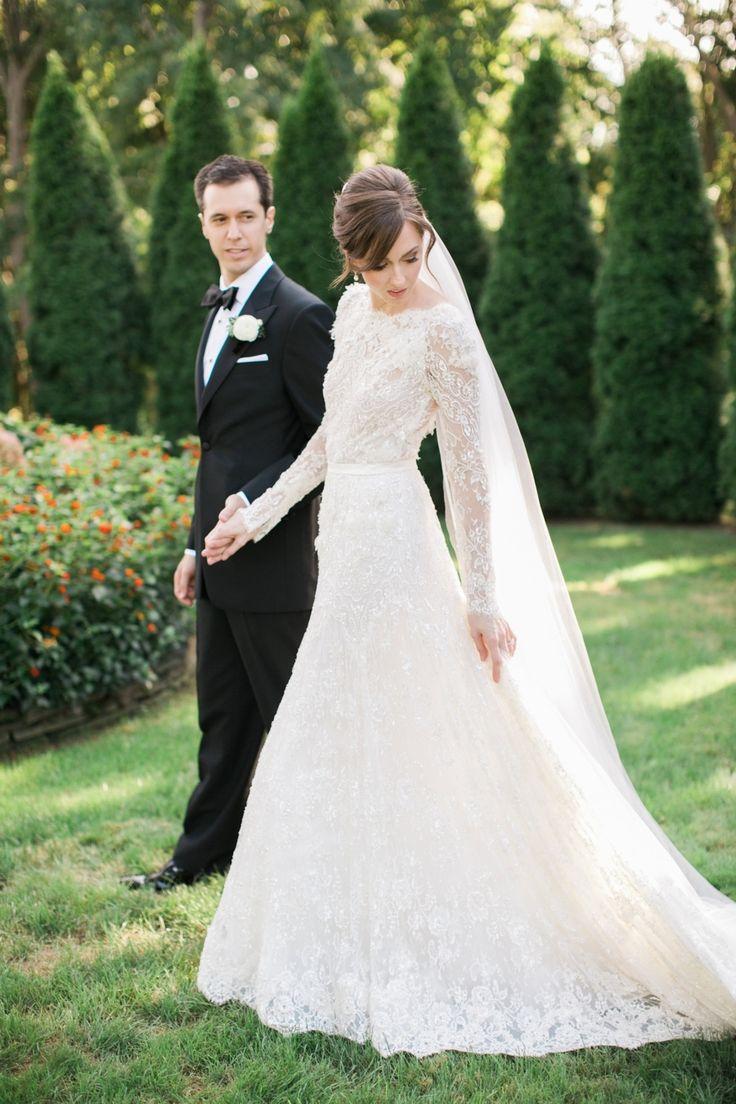 Photography: Rebecca Arthurs - rebecca-arthurs.com Wedding Dress: Elie Saab - www.preownedweddingdresses.com/ Read More on SMP: http://www.stylemepretty.com/2016/03/21/elegant-intimate-glen-manor-wedding/