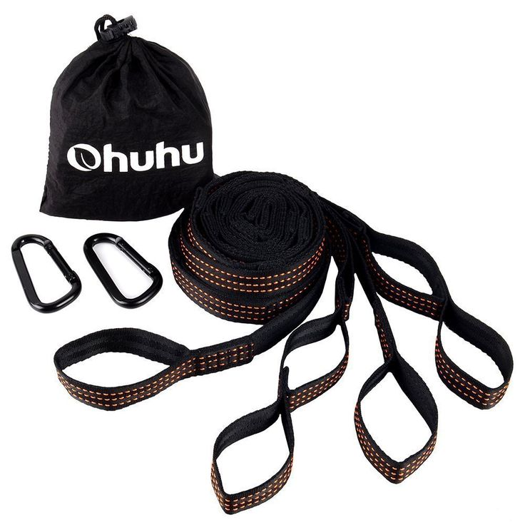 Camping accessories :Ohuhu 2 Pcs Hammock Tree Straps Suspension System with Carabiners ** See this great product  at this Camping accessories board