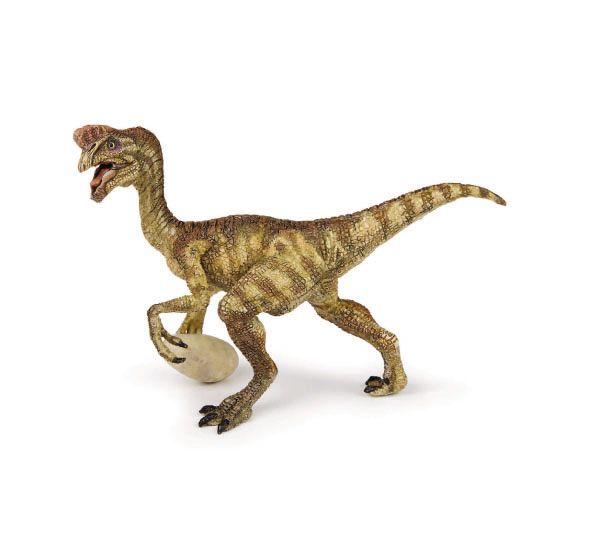 """Oviraptor - El Oviraptor era un dinosaurio omnívoro, tanto comía carne como hierba. Su nombre significa """"Ladrón de Huevos"""". Alto: 9 cm Largo: 11 cm Figuras de gran calidad y detalle, parecen de verdad!  Edad: a partir de 3 años Marca: Papo Ref. 30233 Precio: 14.00 € IVA incluido"""