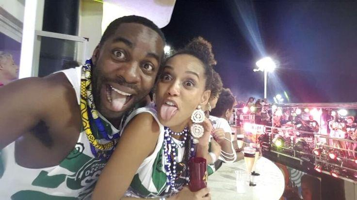 Filhos de Taís Araújo e Lázaro Ramos fazem rara aparição Carnaval