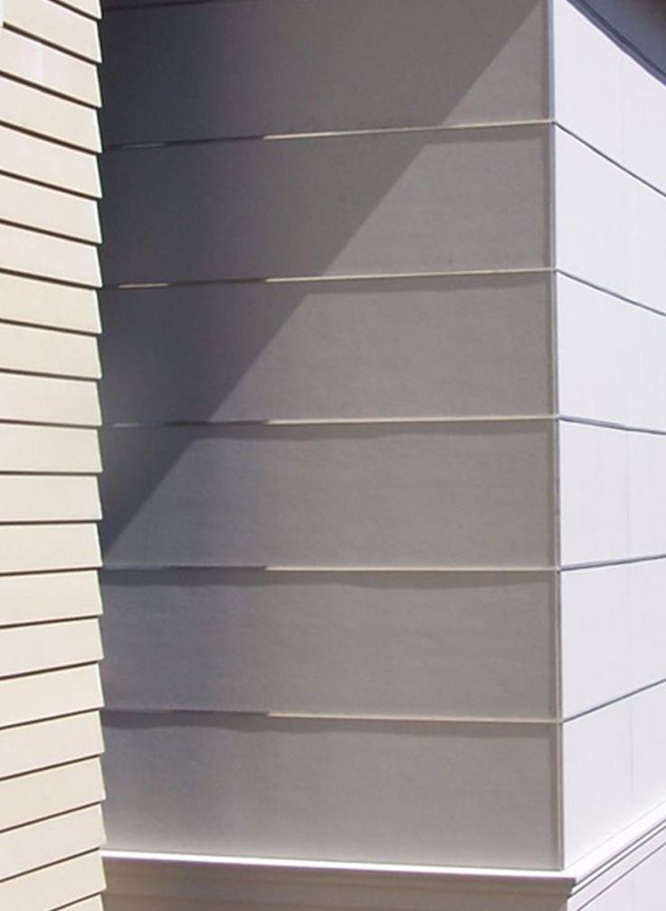 Exterior Siding Is A Collage Of Fiber Cement Panels