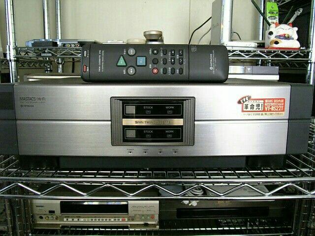 日立 スーパーVHS ツインビデオデッキ マスタックスHi-Fi 革命児