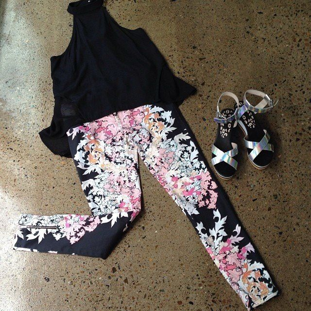 Floral pants now on www.nuesociety.com