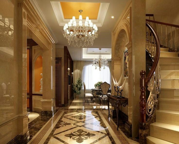 Marvellous French Interior Design Ideas With Glossy Wall And Floor Chandelier Luxury Room Staircase For Get The Look