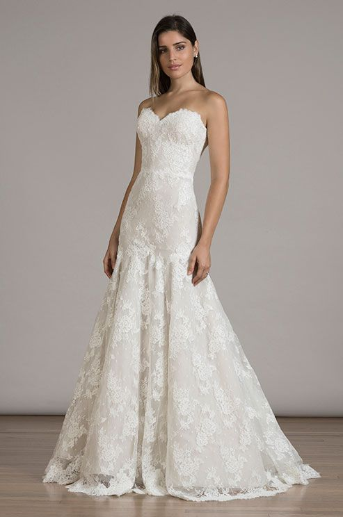 Lace Wedding Dress Idea Trumpet Style With Strapless Sweetheart Neckline And Alencon Details 6831 By Find More