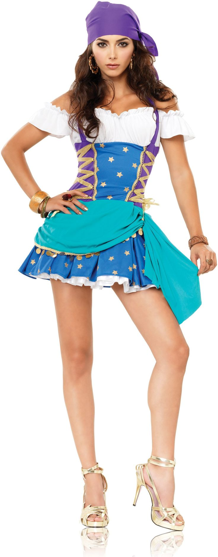 Gypsy Costume: Gypsy Princesses, Halloween Costumes, Adult Costumes, Women Costumes, Princesses Costumes, Legs Avenu, Gypsy Costumes, Costumes Ideas, Halter Dresses